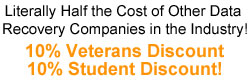 data recovery discounts for students and veterans